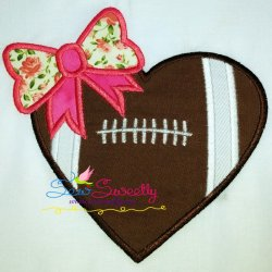Football Heart Applique Design