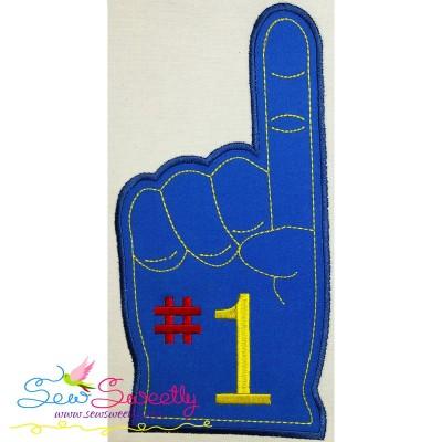Foam Finger Applique Design
