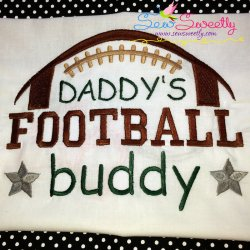 Daddy's Football Buddy Embroidery Design