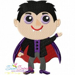 Vampire Embroidery Design