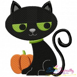 Halloween Cat-2 Embroidery Design