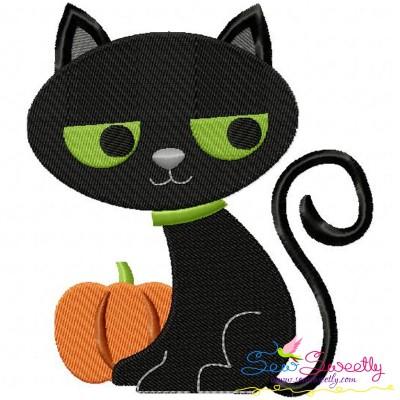 Halloween Cat-2 Embroidery Design