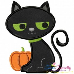 Halloween Cat-2 Applique Design