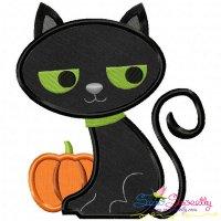 Halloween Cat-2 Applique Design