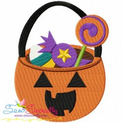 Halloween Candy Embroidery Design
