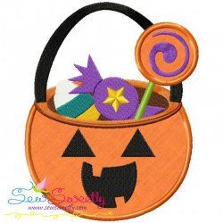Halloween Candy Applique Design