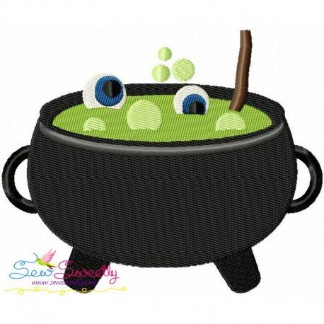 Halloween Cauldron Embroidery Design