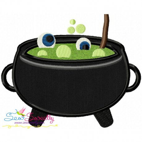 Halloween Cauldron-2 Machine Applique Design