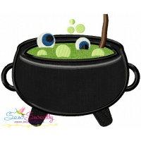 Halloween Cauldron-2 Applique Design