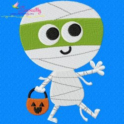 Mummy Embroidery Design
