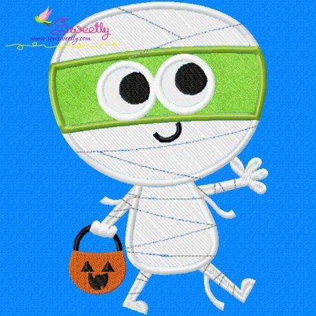 Mummy Applique Design Pattern- Category- Halloween Designs- 1
