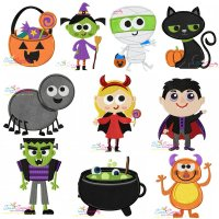 Halloween Embroidery Design Bundle