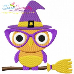 Halloween Owl-2 Embroidery Design