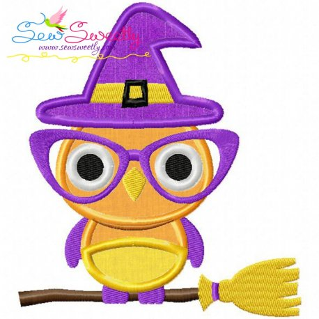 Halloween Owl-2 Machine Applique Design