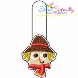 Scarecrow Key Fob In The Hoop Embroidery Design
