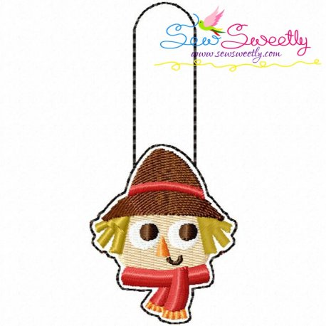 Scarecrow Key Fob In The Hoop Embroidery Design Pattern- Category- In The Hoop (ITH) Designs- 1