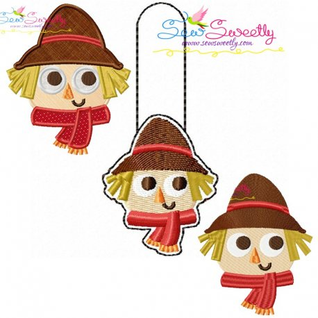 Scarecrow Combo Pack Embroidery Design Bundle Pattern- Category- Fall And Thanksgiving- 1