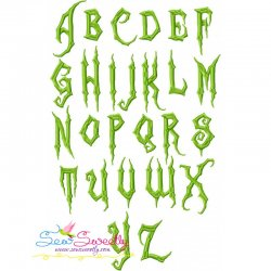 Halloween Scary Embroidery Font Set