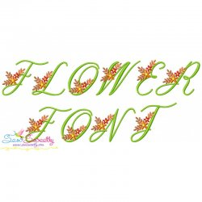 Flower Font-1 Embroidery Font Set