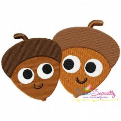 Acorns Machine Embroidery Design