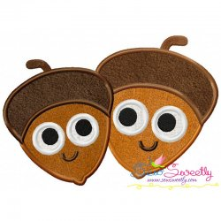 Acorns Machine Applique Design