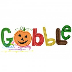 Gobble Lettering Applique Design