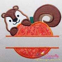 Pumpkin Split Applique Design