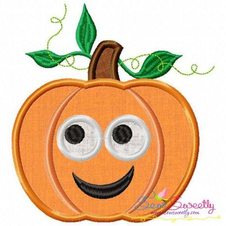 Free Pumpkin Applique Design