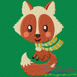 Fall Fox Embroidery Design
