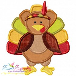 Indian Pilgrim Turkey Applique Design
