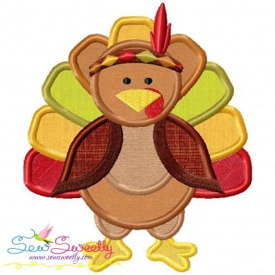 Indian Pilgrim Turkey Applique Design