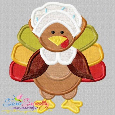 Pilgrim Turkey Bonnet Applique Design