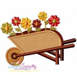 Wheelbarrow Applique Design