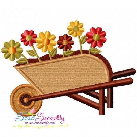 Wheelbarrow Applique Design