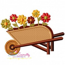 Free Wheelbarrow Embroidery Design
