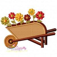 Wheelbarrow Embroidery Design