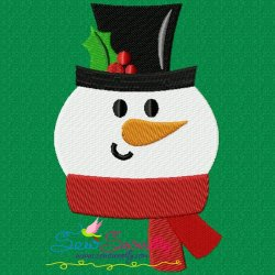 Cute Snowman Embroidery Design