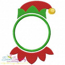 Elf Monogram Frame Embroidery Design