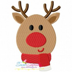 Christmas Reindeer Embroidery Design