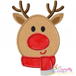 Christmas Reindeer Applique Design