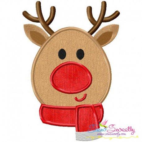 Christmas Reindeer Applique Design
