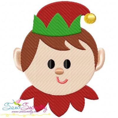 Cute Elf Embroidery Design