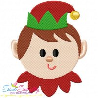 Cute Elf Embroidery Design