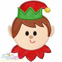 Cute Elf Applique Design