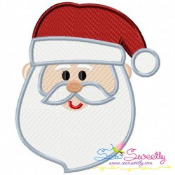 Cute Santa Face Embroidery Design