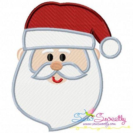Cute Santa Face Embroidery Design