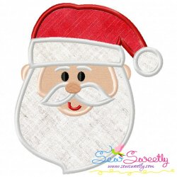 Cute Santa Face Applique Design