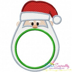 Santa Monogram Frame Embroidery Design