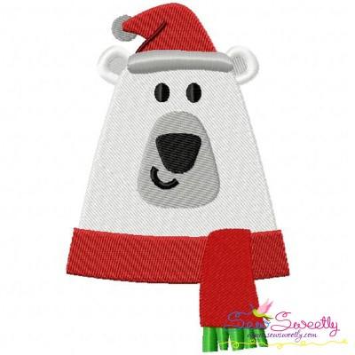 Christmas Polar Bear Embroidery Design Pattern- Category- Christmas Designs- 1