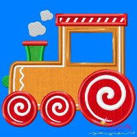 Gingerbread Train Applique Design